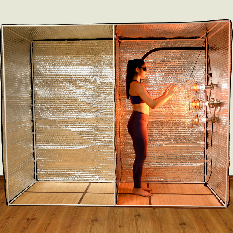 Sauna Fix Yoga Tent and NEAR INFRARED SAUNA LAMP