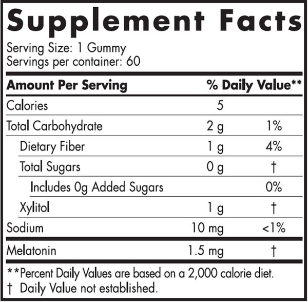 Zero Sugar Melatonin 60 gummies
