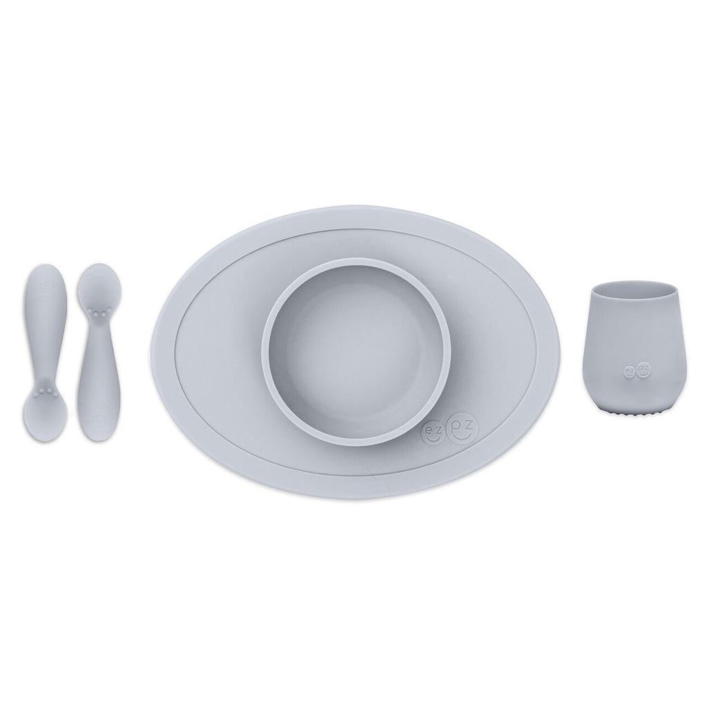 EZPZ Tiny First Foods Set - Pewter
