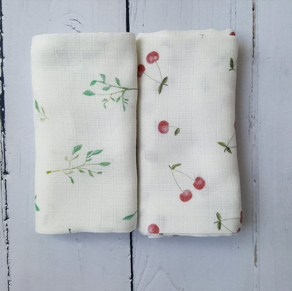 Muslin swaddles - Summer Garden (2 pack)