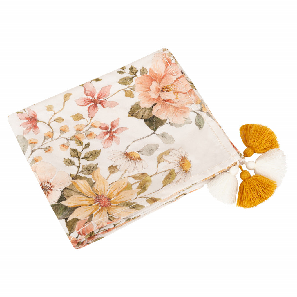 Premium bamboo swaddle blanket - Vintage Bloom