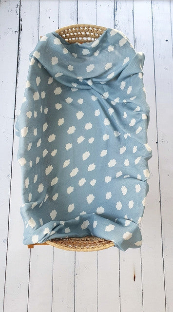 Extra large muslin wrap - Dark Clouds