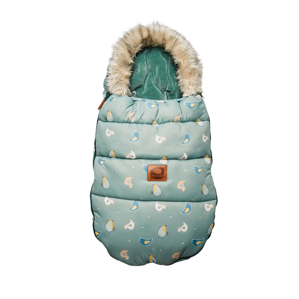 Pram Sleeping Bag / Footmuff - Crazy Birds