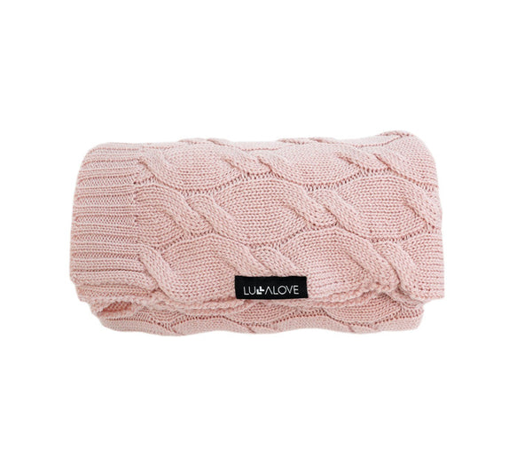 100% Merino Wool Blanket - Powder Pink
