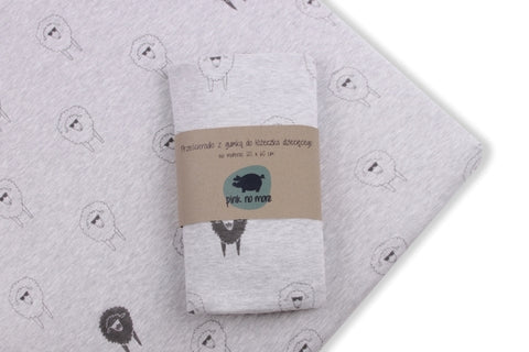 Cot bed fitted sheet - Gangsta sheeps (choice of 2 sizes)
