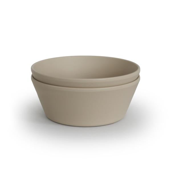 Mushie Round Bowl - Vanilla (set of 2)