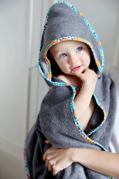 Hooded bamboo towel - Ethnic Intense
