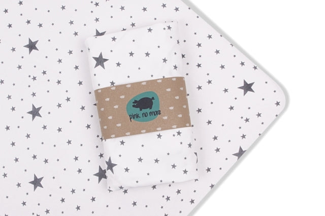 Cot bed fitted sheet - Stars (2 sizes)