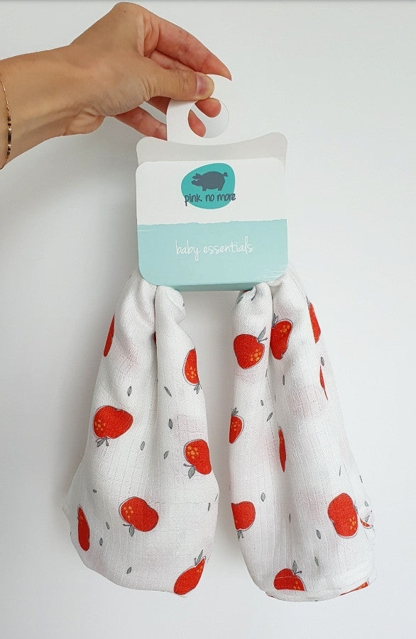 Extra large muslin wrap - Apples