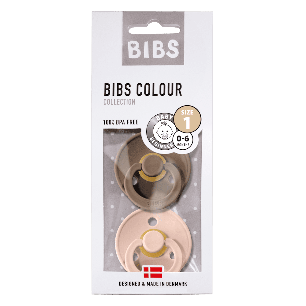 BIBS natural dummy - Dark Oak & Blush (2pack)