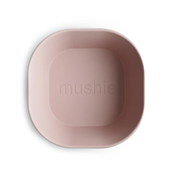 Mushie Square Bowl - Blush (set of 2)