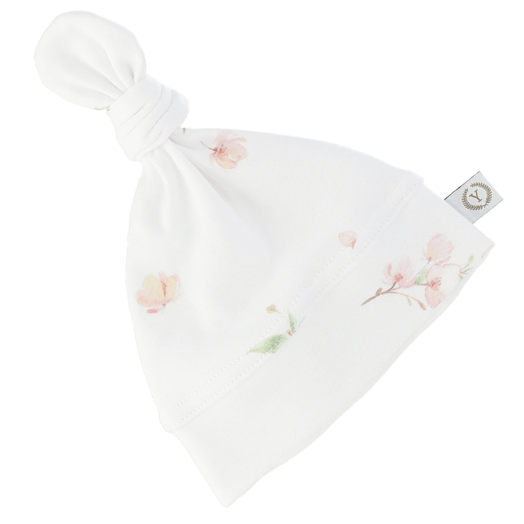 Baby knotted hat - Japanese Flowers (2 sizes)