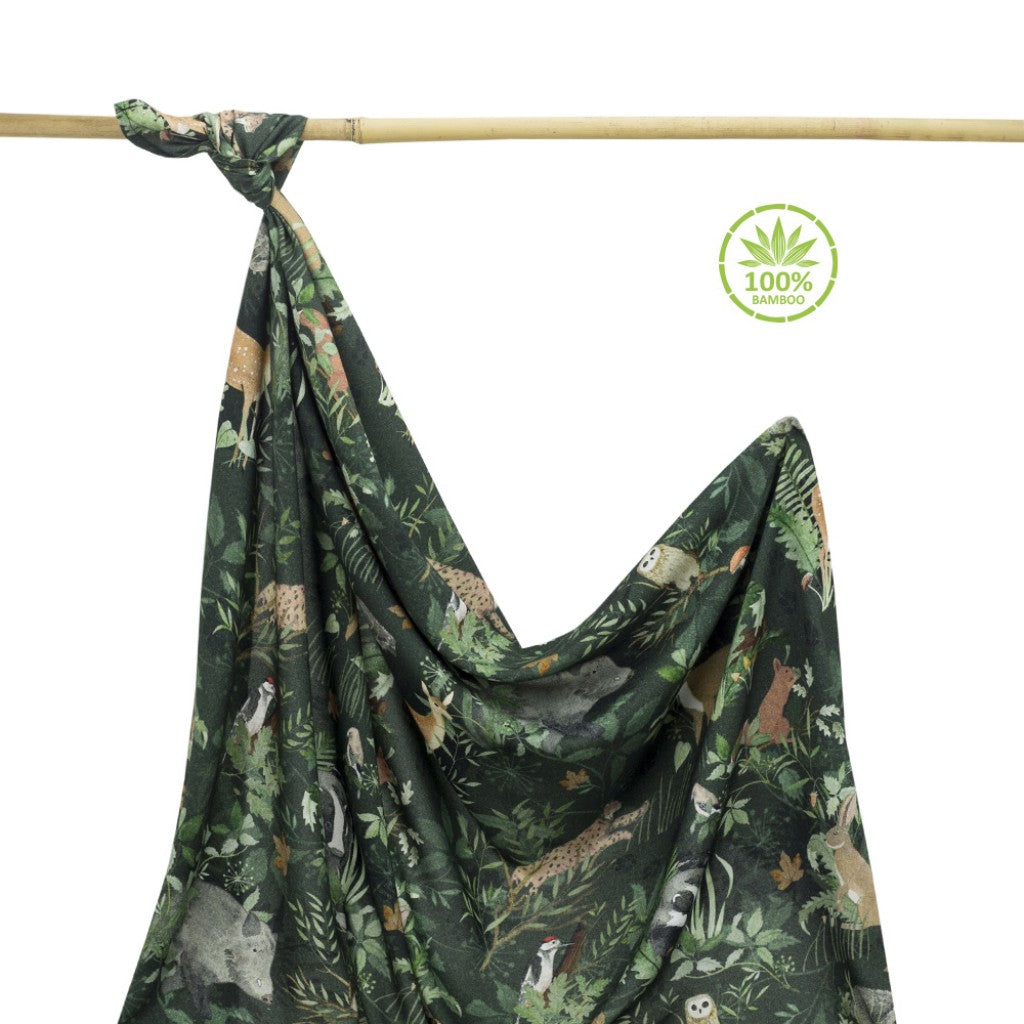 100% Bamboo Swaddle Blanket - Woodland