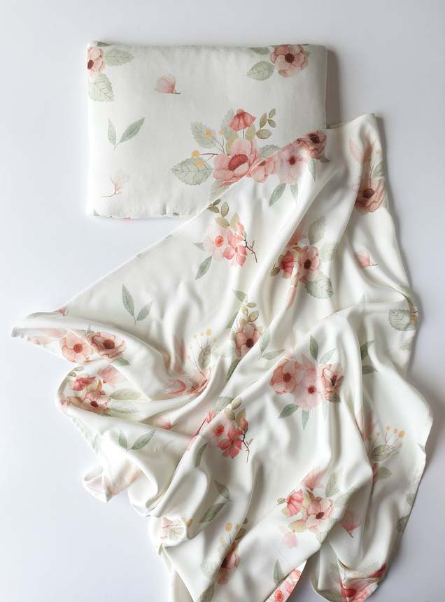 Bamboo Swaddle Blanket - Vintage Flowers