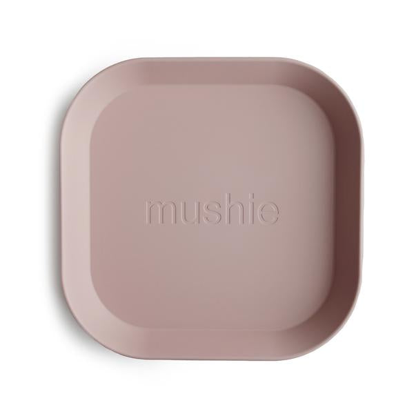 Mushie Square Plate - Blush (set of 2)