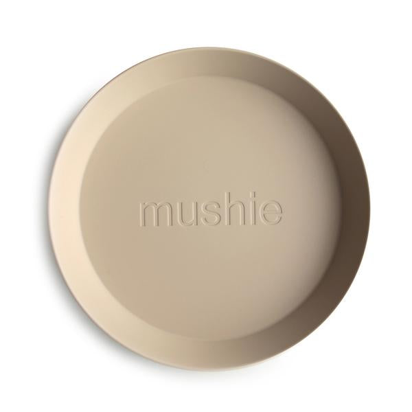 Mushie Round Plate - Vanilla (set of 2)
