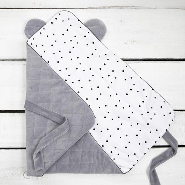 Velvet swaddle blanket - Royal Grey