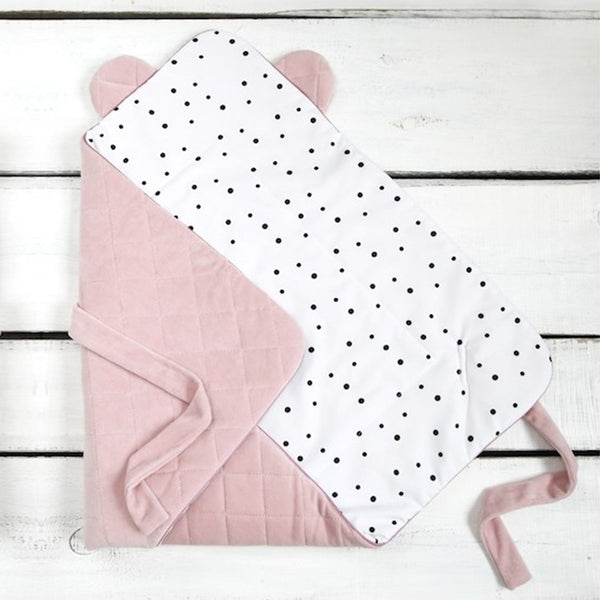Velvet swaddle blanket - Royal Pink