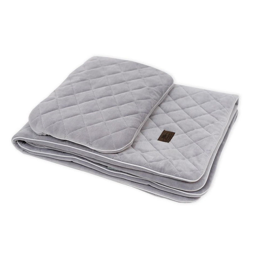 Velvet bedding set - Royal Baby Grey