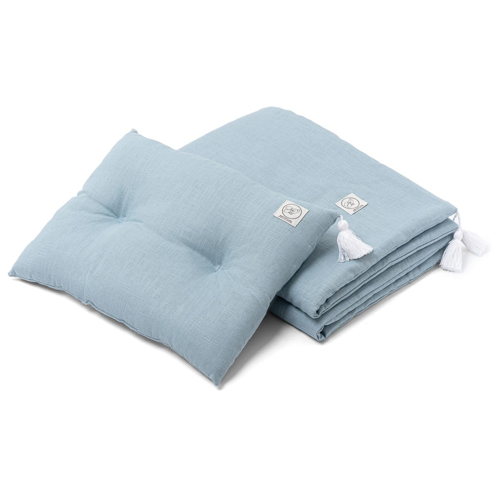 100% Linen Bedding Set - Sea Green