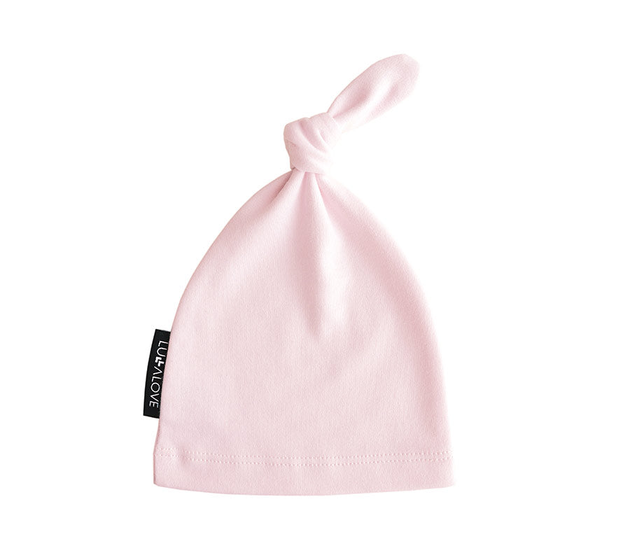 Baby knotted hat - Pink (0-3 months)