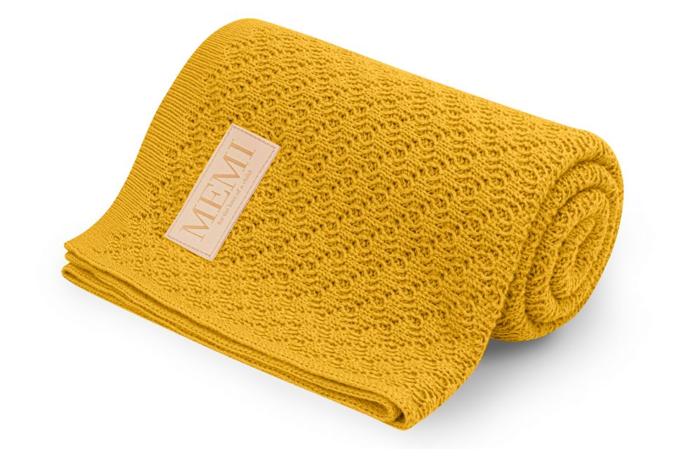 MEMI Reversible Bamboo Blanket - Honey
