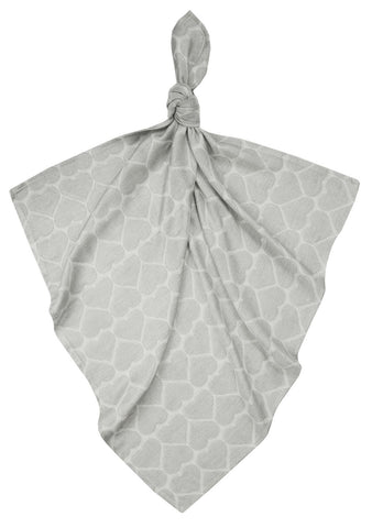 Muslin Square - Hearts Grey