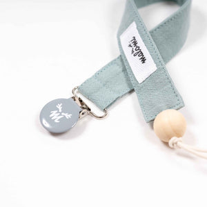 Washed cotton dummy clip - Sage Green