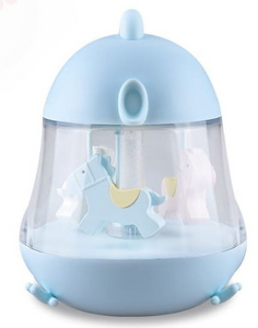 Bedside lamp with musical box - Blue Chick