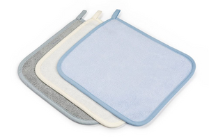 100% Bamboo washcloths (3pack) - Baby Blue