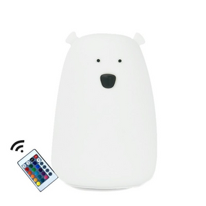 Mr Bear - white bedside lamp