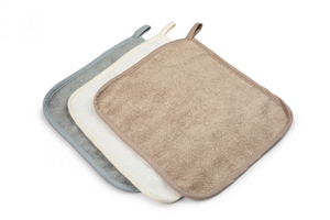 100% Bamboo washcloths (3pack) - Sand