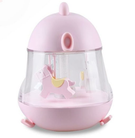 Bedside lamp with musical box - Pink Chick