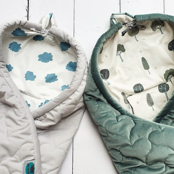 Car seat blanket - Green & Trees
