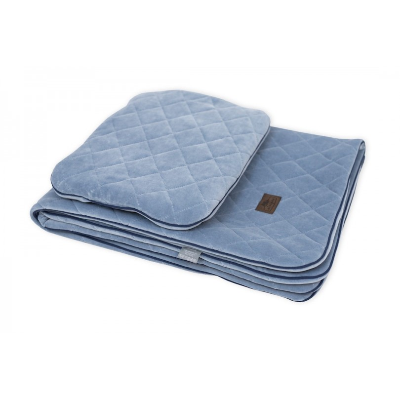 Velvet bedding set - Royal Baby Denim