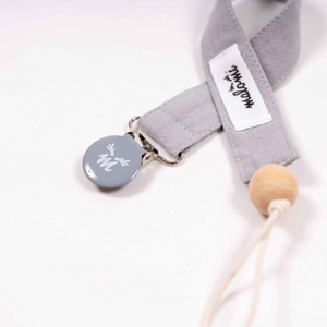 Washed cotton dummy clip - Grey