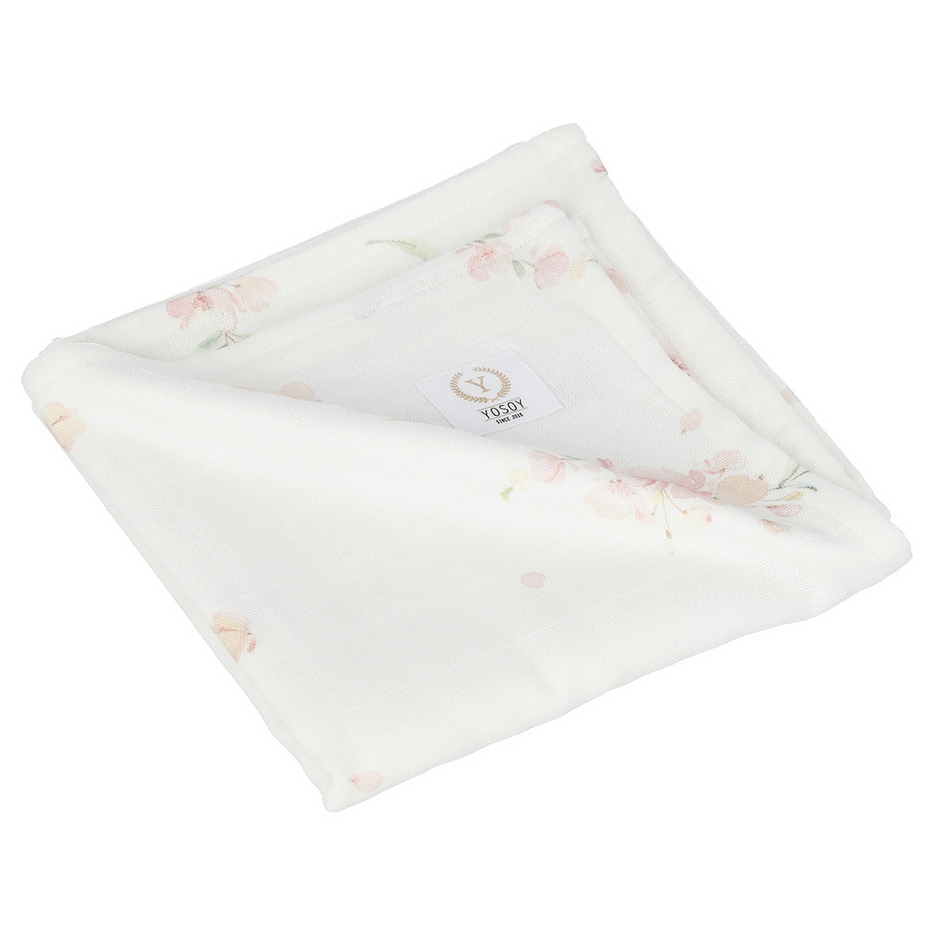 Muslin Swaddle Blanket - Japanese Flowers