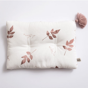 Bamboo pillow - Dirty pink leaves