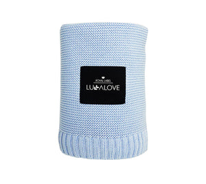 All Year Bamboo Blanket - Baby Blue