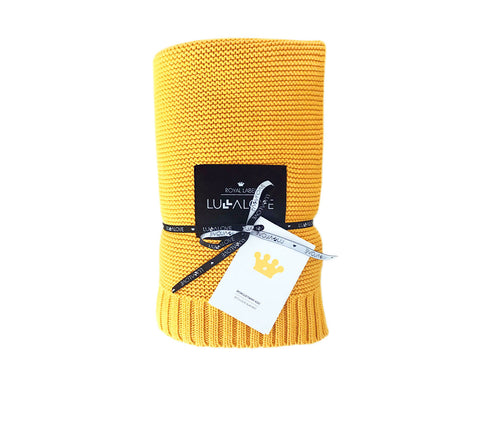 All Year Bamboo Blanket - Mustard