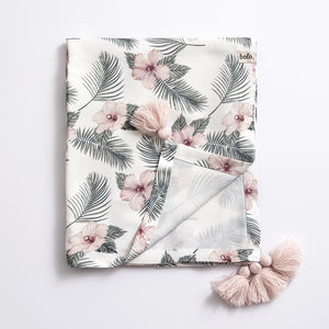 Bamboo swaddle blanket - Flowers
