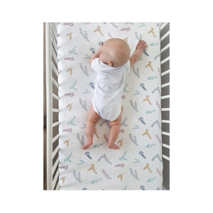 Cot bed fitted sheet - Twigs (2 sizes)