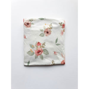 Cot bed fitted sheet - Vintage Flowers (choice of 2 sizes)