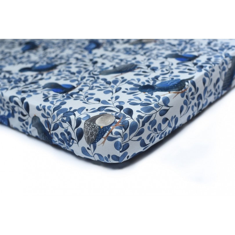Cot bed fitted sheet - Blue Birds (choice of 2 sizes)