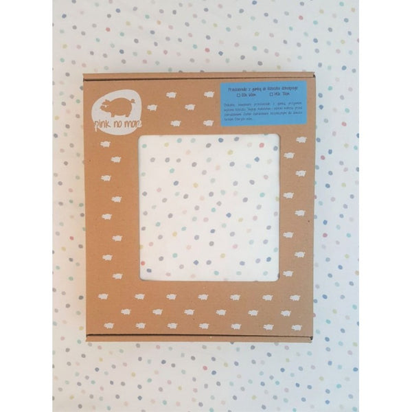 Cot bed fitted sheet - Dots (choice of 2 sizes)