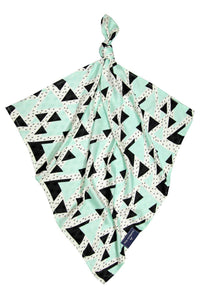 Muslin Square - Triangles Mint