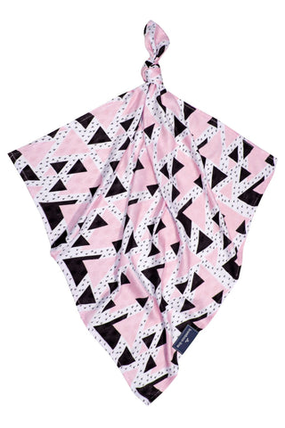 Muslin Square - Triangles Pink