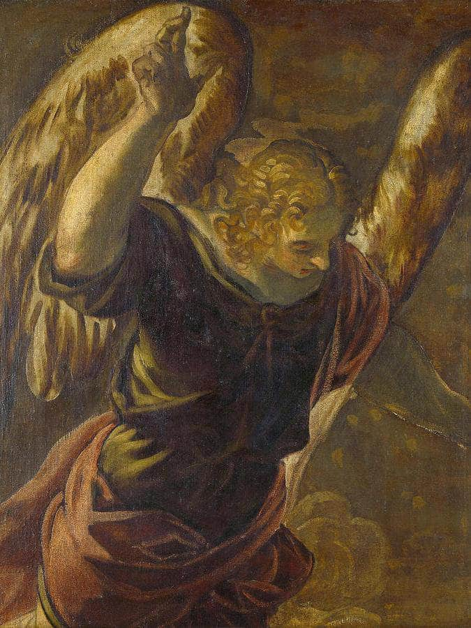 1 Angel From The Annunciation To The Virgin By Tintoretto