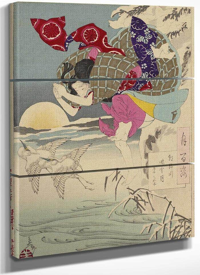 100 Aspects No 10 Moon Of Pure Snow At Asano River 1885 By Tsukioka Yoshitoshi