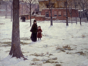 16Th Street, Indianapolis (Winter Morning) By Theodore Clement Steele